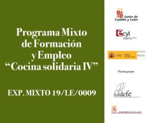 Placa de señalización Cocina Solidaria IV